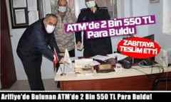Arifiye'de Bulunan ATM'de 2 Bin 550 TL Para Buldu!
