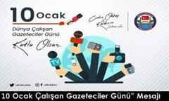 """Vali Çetin Oktay KALDIRIM'ın """"Çalışan Gazeteciler Günü"""" Mesajı"""