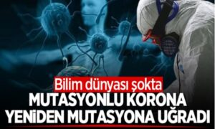Bilim dünyası şokta! Mutasyonlu korona yeniden mutasyona uğradı