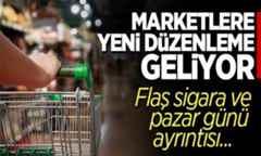 Zincir Marketlere yeni düzenleme!