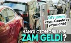 ÖTV zammı Resmi Gazete'de yayımlandı