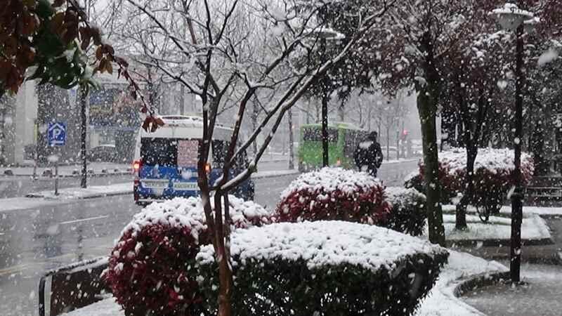 Sakarya şehir merkezinde kar yağışı başladı!