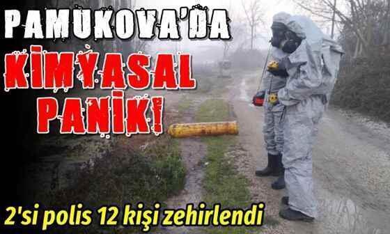 Pamukova'da kimyasal sızıntı ! 12 kişi zehirlendi..
