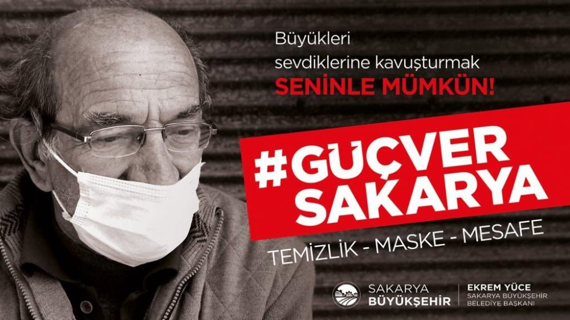 """Büyükşehirden Koronavirüs ile mücadele de farkındalık çalışması """"GüçverSakarya"""""""