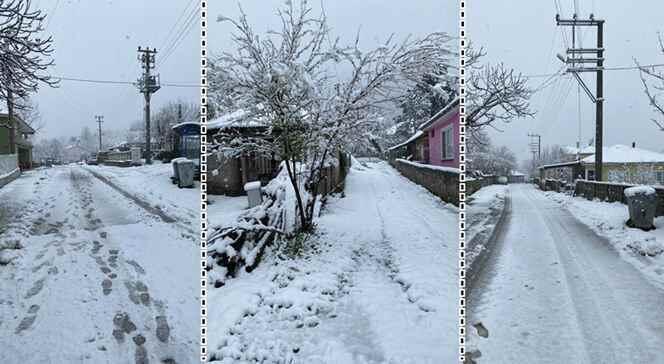Kışlaçay Mahallesi Güne karla başladı.