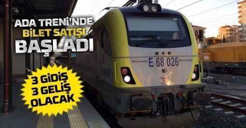 Ada Treni'nde Bilet satışı başladı.