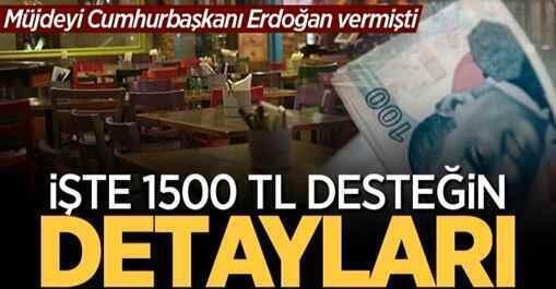 Restoran, kafe ve lokantalara 1500 TL'lik desteğin detayları belli oldu!