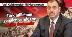 Vali Kaldırım'dan 18 Mart mesajı
