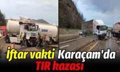 Geyve Karaçam'da Tır kazası!