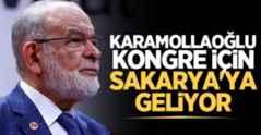 Temel Karamollaoğlu kongre için Sakarya'ya geliyor..