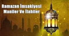 Ramazan İmsakiyesi- Maniler Ve İlahiler