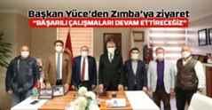 Başkan Ekrem Yüce'den Yaşar Zımba'ya ziyaret..