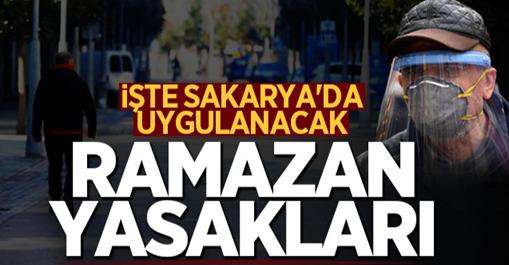 İşte Sakarya'da uygulanacak ramazan yasakları!