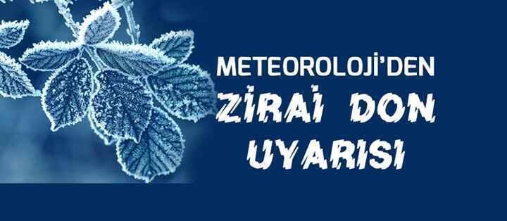 Meteoroloji Genel Müdürlüğünden Sakarya için 'zirai don' uyarısı.