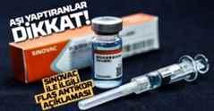 Sinovac aşısıyla ilgili dikkat çeken antikor açıklaması.