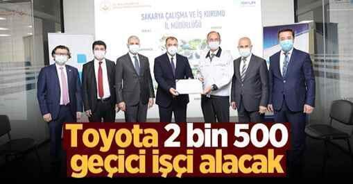 Toyota 2 bin 500 geçici işçi alacak