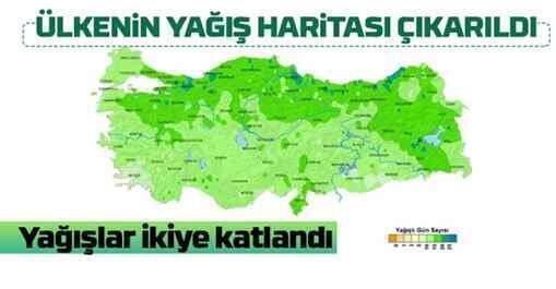 Ülkenin yağış haritası yayınlandı..İkiye katlandı