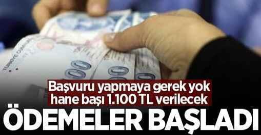 1.100 lira nakit para desteği! Ödemeler başladı