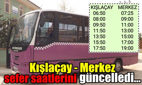 Kışlaçay-Mollaköy Halk Otobüsü Sefer Saatlerini Güncelledi.