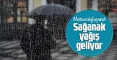 Meteoroloji'den Sakarya için kuvvetli yağış uyarısı.