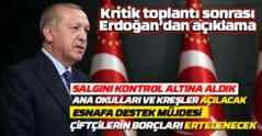Erdoğan'dan önemli açıklamalar..