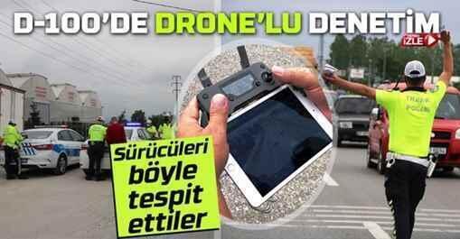Erenler'de drone'lu denetim..