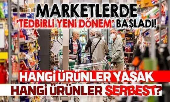 Marketlerde hangi ürünlerin satışı yasak ?