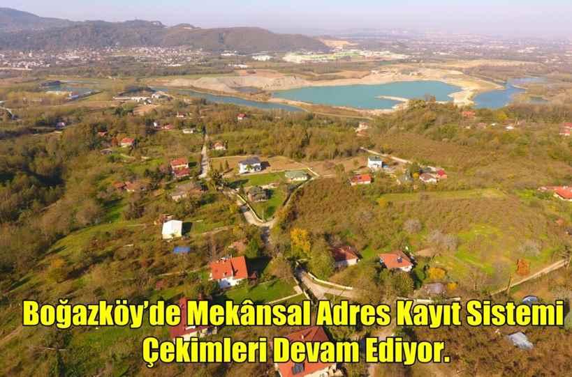 Boğazköy'de Mekânsal Adres Kayıt Sistemi Çekimleri Devam Ediyor.