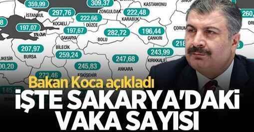 Sakarya'da 7 günlük vaka sayısı açıklandı!