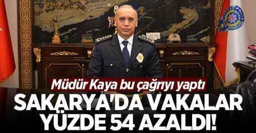 Sakarya'da vakalar yüzde 54 azaldı! Müdür Kaya bu çağrıyı yaptı.