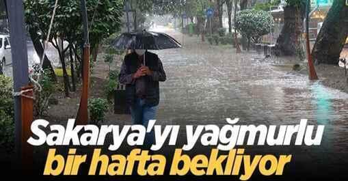Sakarya'yı yağmurlu bir hafta bekliyor..