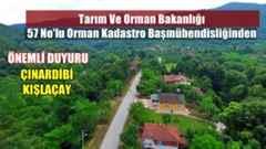 Tarım Ve Orman Bakanlığından Çınardibi – Kışlaçay Mahallesine Önemli Duyuru!