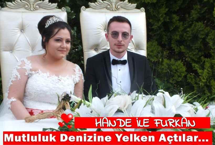 Hande Durmuş & Furkan Aydın Çifti Hayatlarını Birleştirdi.