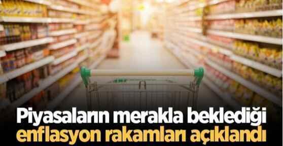 Piyasaların merakla beklediği enflasyon rakamları açıklandı.