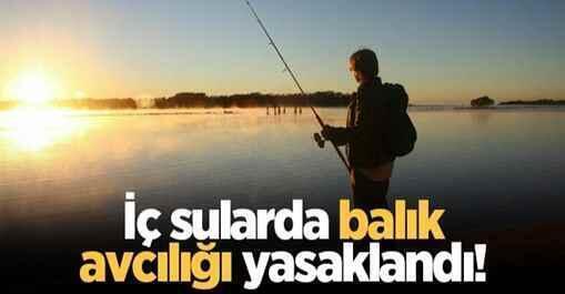 81 İl Valiliklerine İç sularda balık avcılığı yasaklandı!