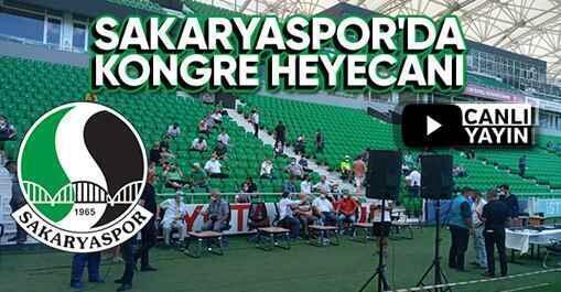 Sakaryaspor'da kongre heyecanı başladı. (Canlı Yayın)