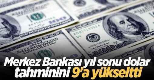 Merkez Bankası yıl sonu dolar tahminini 9'a yükseltti