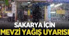 Meteoroloji'den Sakarya İçin Yağış Uyarısı!