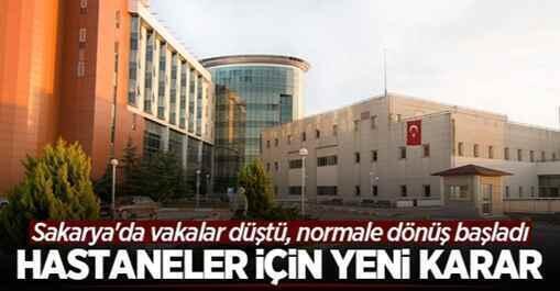 Sakarya'daki hastanelerde normale dönüş başladı.