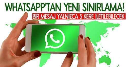 Whatsapp'tan yeni sınırlama