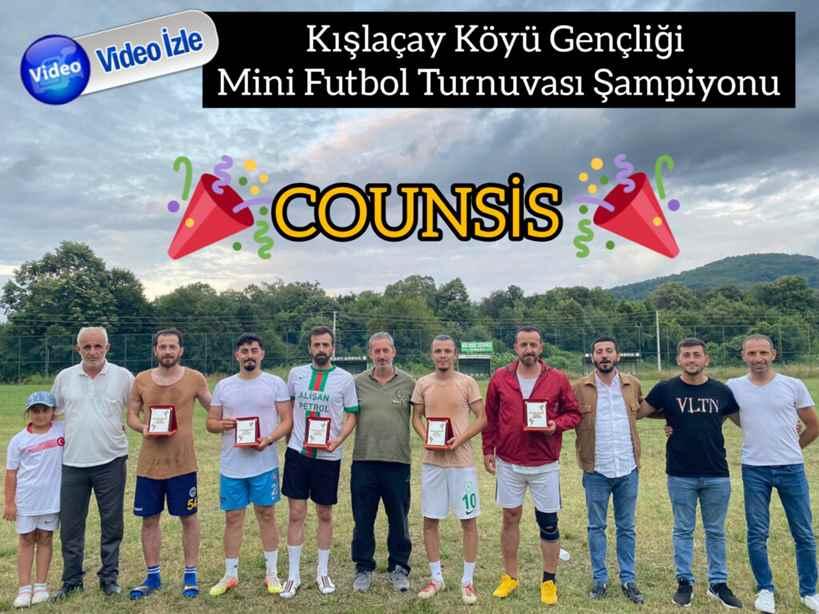 Kışlaçay Köyü Gençliği Mini Futbol Turnuvası Şampiyonu Cousins.
