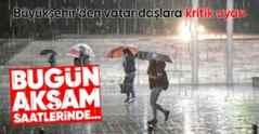 Meteoroloji'den Sakarya İçin Sağanak Yağışı Uyarısı..
