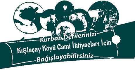 Kurban Derileri Kışlaçay Köyü Cami İhtiyaçları İçin Toplanacak.