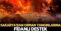 Sakarya'dan orman yangınlarına fidanlı destek.