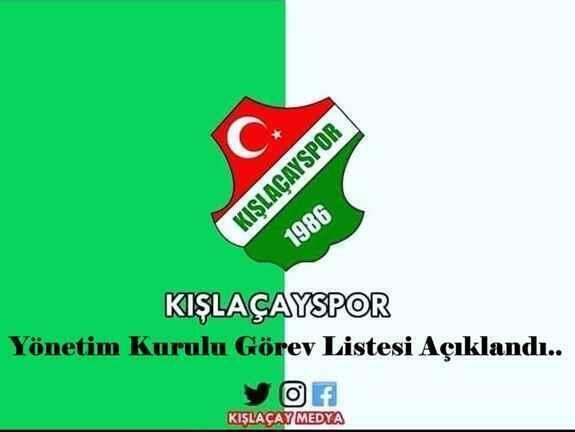 Kışlaçayspor'da yönetim kurulu görev listesi açıklandı..
