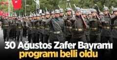 Sakarya'da 30 Ağustos Zafer Bayramı programı belli oldu