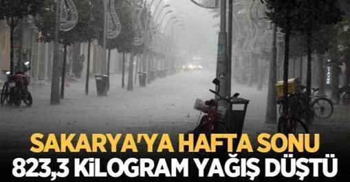 Sakarya'ya hafta sonu 823,3 kilogram yağış düştü