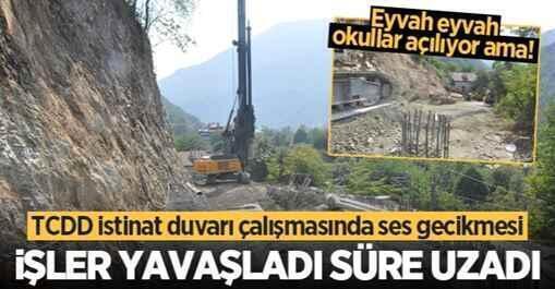 Boğazköy'deki Çalışmada İşler yavaşladı, süre uzadı.