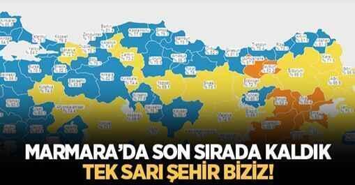 Marmara'da Tek Sarı Sakarya Kaldı..