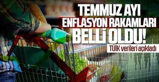 Temmuz ayı enflasyon rakamları açıklandı.